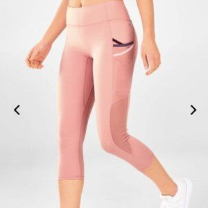 Fabletics Trinity Pocket Leggings Pink